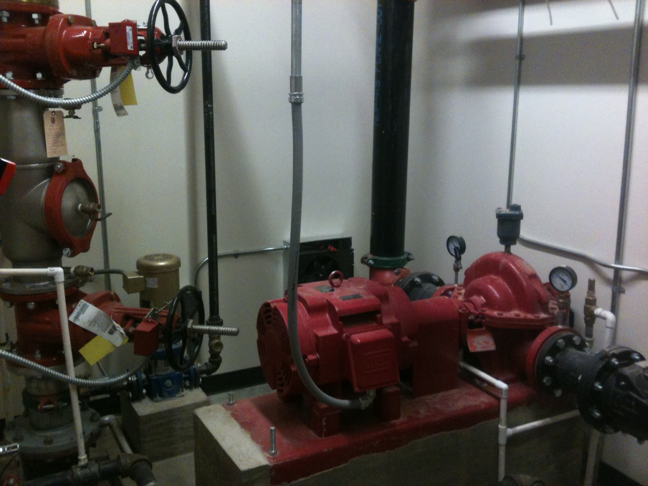 Fire Pump at Briarcrest High School Auditorium