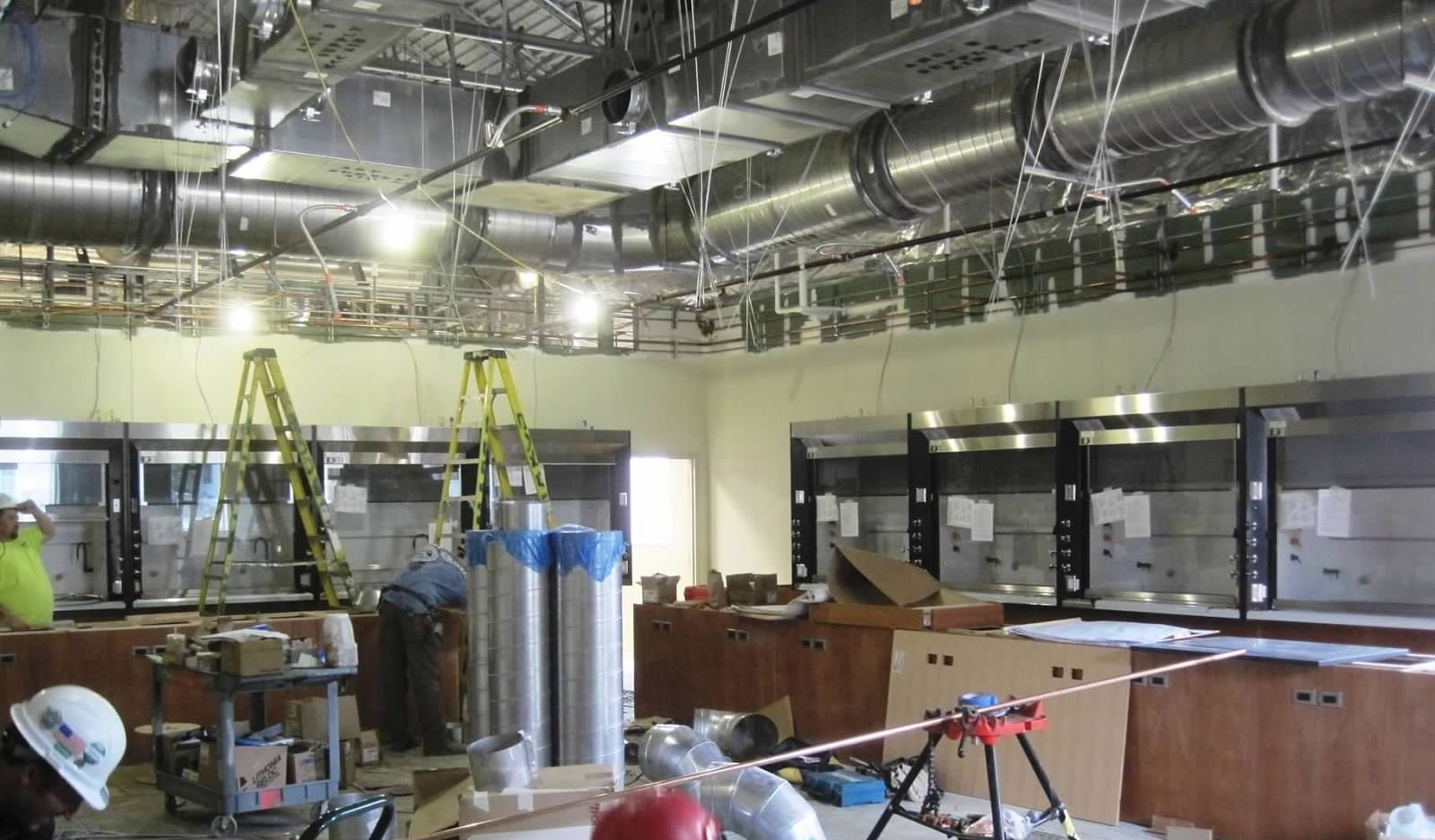 Fume Hoods and Ductwork at Freed Hardeman University